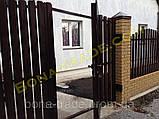 Штакетний металевий паркан, фото 4