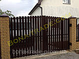 Штакетний металевий паркан, фото 5