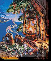 """Набор для вышивки бисером на натуральном художественном холсте """"Вечерний чай"""""""