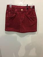 Детская микровельветовая юбка