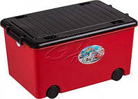 Ящик для игрушек на колесах Tega Junior Cars TG-179 (red-black)