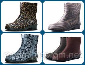 Женские резиновые  сапоги,полусапоги -разные цвета, фото 3
