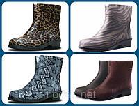 Женские резиновые  сапоги,полусапоги -разные цвета