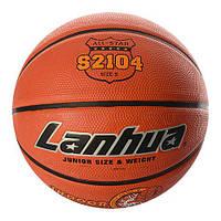 Мяч баскетбольный S 2104 (25 шт.) размер5,рисунок-печать,460-500г,в кульке