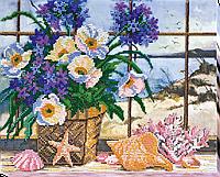 """Набор для вышивки бисером на натуральном художественном холсте """"На побережье"""""""