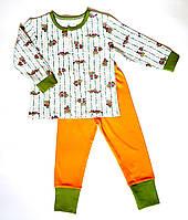 Пижама 98, оранжевый