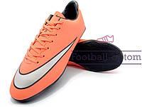 Футзалки (бампы) Nike Mercurial (0442) оранжевые