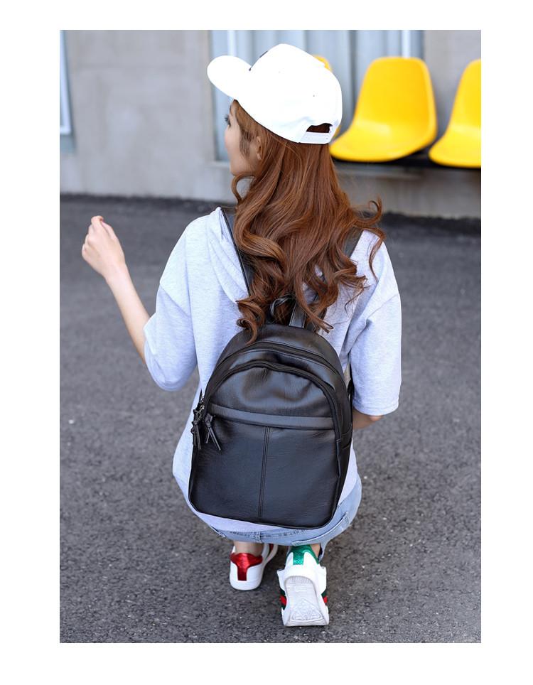 Городской женский рюкзак черный