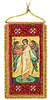 """Набор для вышивки бисером на натуральном художественном холсте """"Молитва Ангелу-хранителю"""""""