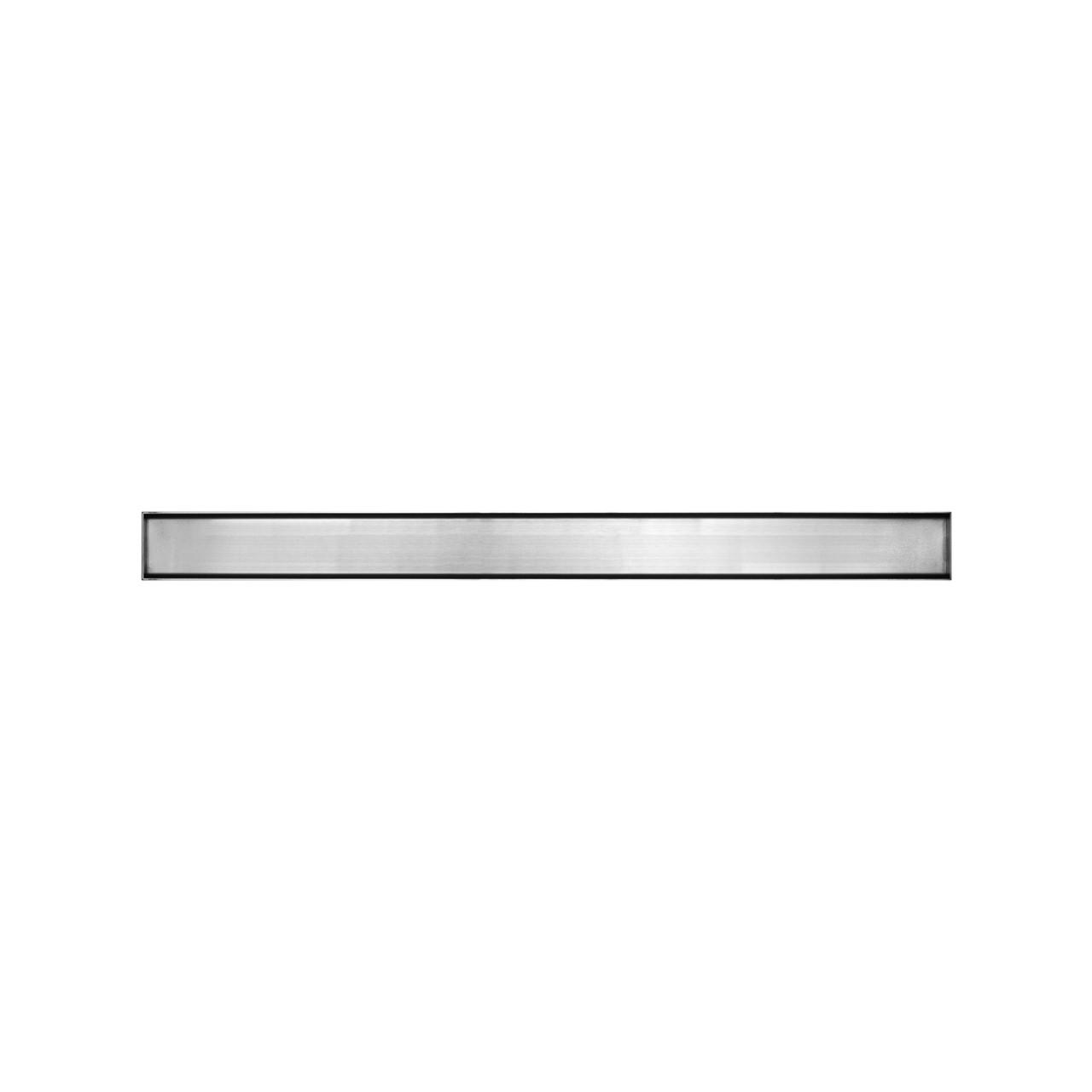 """Душевой канал Inox Style из нержавеющей стали 885 мм с горизонтальным фланцемс решеткой """"Под натуральный камень"""" L88510"""