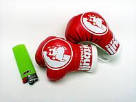 Мини боксерские перчатки PITBULL КРАСНЫЕ, подарок, сувенир, брелок