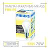 Лампа накаливания Philips Standard 75W E27 230V A55 FR 1CT/12X10F (стандартная матовая) 935Lm