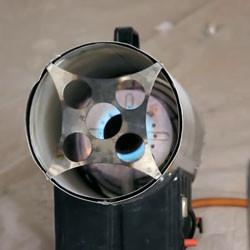 Разогрев газовой пушкой
