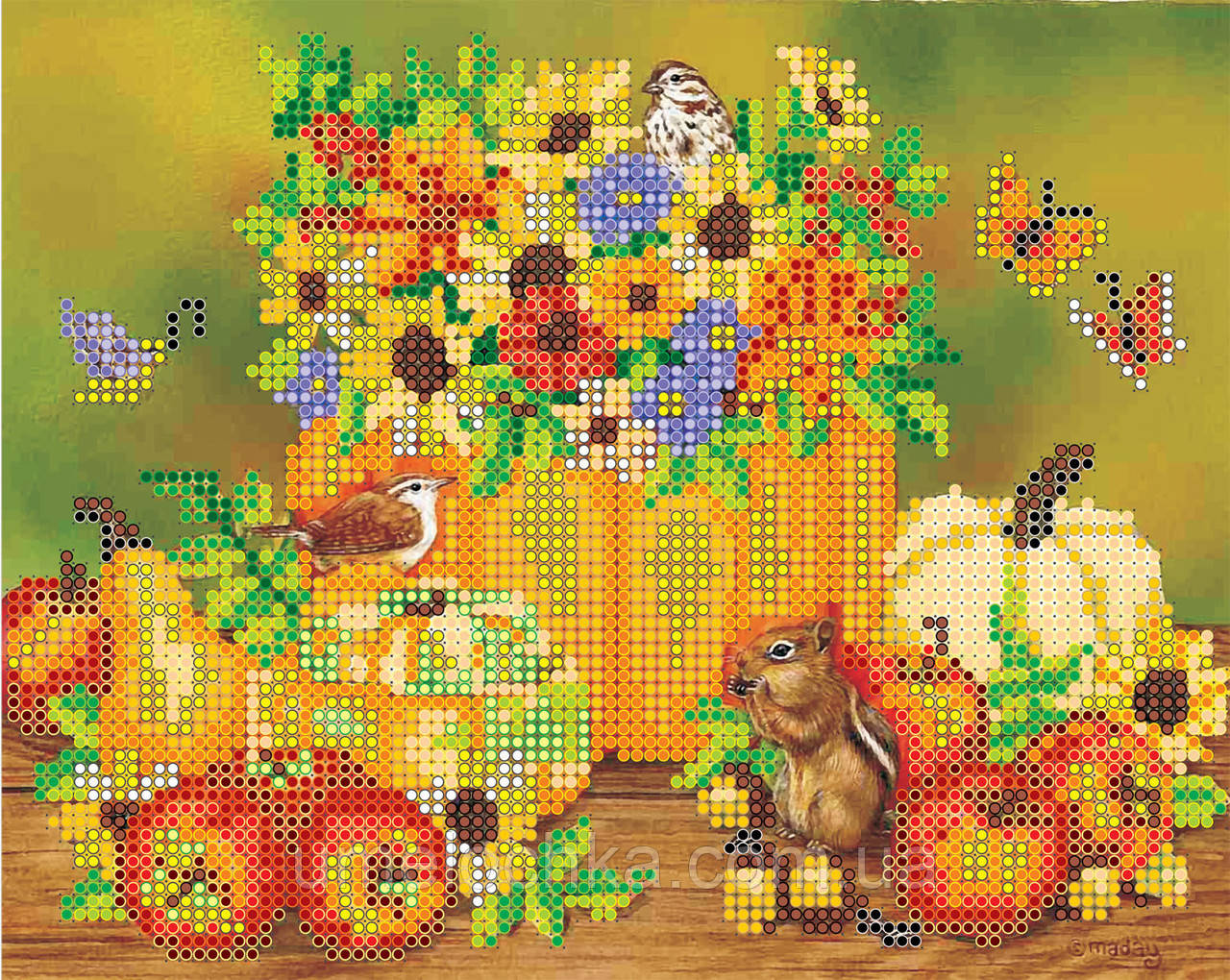 Схема для вышивки бисером на натуральном художественном холсте Праздник осени - Товары для творчества от Белочки-Умелочки в Киеве