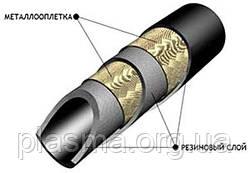 Рукава резиновые высокого давления с металлической оплеткой неармированные