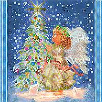 Схема для вышивки бисером на натуральном художественном холсте Новогодняя звезда