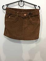 Микровельветовая юбка для девочки 122 см