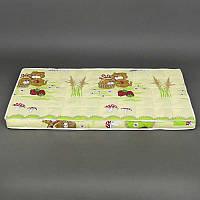 Матрас кокос - поролон - гречка - хлопок №1 - Собачка с корзинкой - цвет салатовый ТМ Беби-Текс