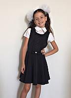 Сарафан школьный синий черный