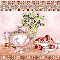 Схема для вышивки бисером на натуральном художественном холсте Десерт