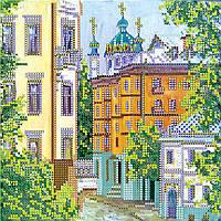 Схема для вышивки бисером на натуральном художественном холсте Городок