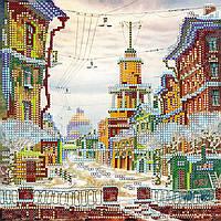 Схема для вышивки бисером на натуральном художественном холсте Зачарованная улица