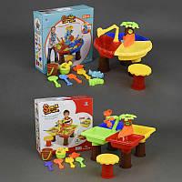 Столик игровой для песка и воды + стульчик 9826-9828 2 вида