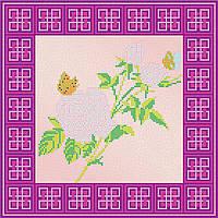 Схема для вышивки бисером на натуральном художественном холсте Роза