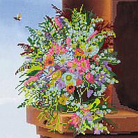 Схема для вышивки бисером на натуральном художественном холсте Палитра лета