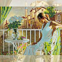 Схема для вышивки бисером на натуральном художественном холсте Утро в Венеции