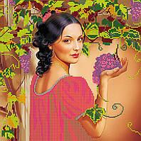 Схема для вышивки бисером на натуральном художественном холсте Испанский виноград