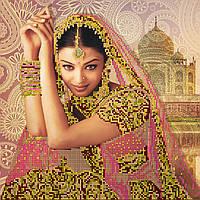 Схема для вышивки бисером на натуральном художественном холсте Цветок Индии