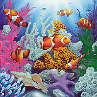 Схема для вышивки бисером на натуральном художественном холсте Морские глубины