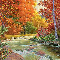 Схема для вышивки бисером на натуральном художественном холсте Золотая осень