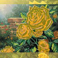 Схема для вышивки бисером на натуральном художественном холсте Чайные розы