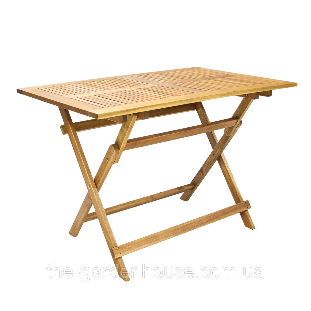 Садовый стол из дерева акации FINLAY 110x75 см складной