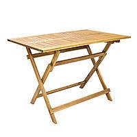 Садовый стол из дерева акации FINLAY 110x75 см складной, фото 1