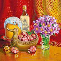 Схема для вышивки бисером на натуральном художественном холсте Пасхальный сюжет1