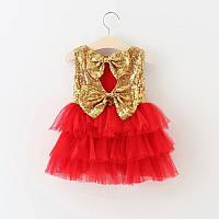 """Платье для девочки """"Кокетка"""" Красный"""