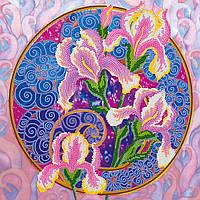 Схема для вышивки бисером на натуральном художественном холсте Поющие ирисы