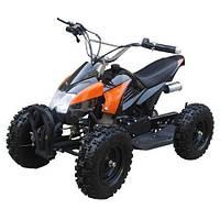Детский  квадроцикл Profi HB-6 EATV 800-2-7,800W, фара, 30 км.ч., черно-оранжевый