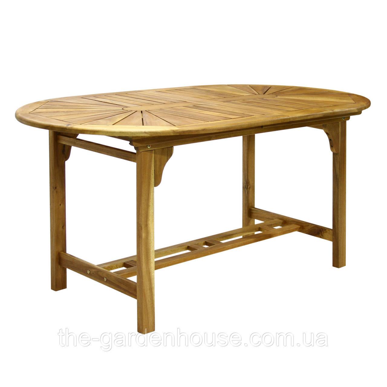 Раскладной стол Finlay из массива акации 153/195x90xH72 см