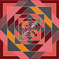 Схема для вышивки бисером на натуральном художественном холсте Декоративный орнамет