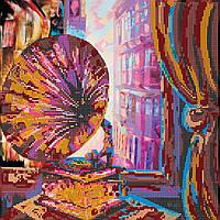 Схема для вышивки бисером на натуральном художественном холсте Патефон