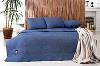 Набор Горох: постельное белье и одеяло летнее, темно-синий
