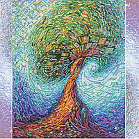 Схема для вышивки бисером на натуральном художественном холсте Волшебное дерево жизни