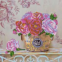Схема для вышивки бисером на натуральном художественном холсте Парижские цветы