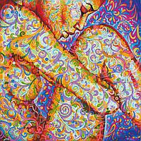 Схема для вышивки бисером на натуральном художественном холсте Цветное мехенди