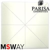 Parisa Спонж C-08 латекс мягкий треугольный, нарезка из квадрата, белые 8шт