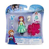 Маленькая кукла Anna Холодное Сердце на движущейся платформе снежинке Hasbro (B9874)